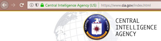 The CIA website displayed by Firefox 61 on Windows