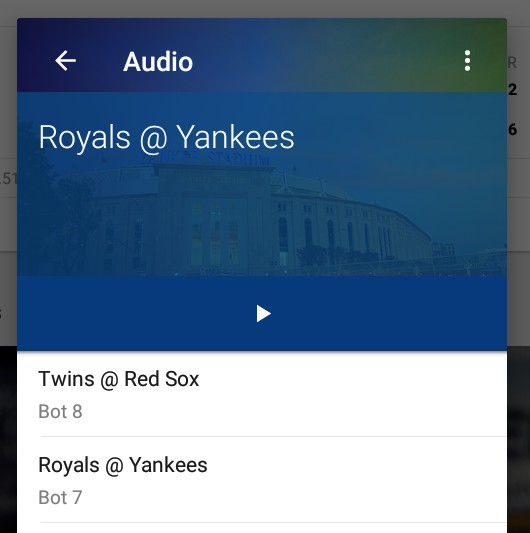 MLB Android app - Audio feature broken