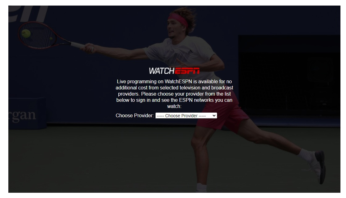 US Open - video with ads and trackers allowed